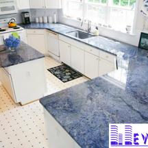 Đá Granite Blue Bahia làm bàn bếp MT-DBB0074