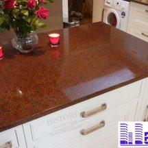 Đá Granite Đỏ Rubi Bình Định làm bàn bếp MT-DBB0096