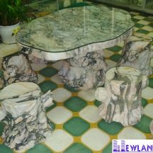 Bàn ghế đá cẩm thạch MT-BGD0001