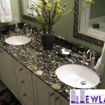 Đá Granite Black Mosaic Gold ốp lavabo MT-LVB0006