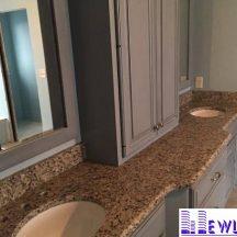Đá Granite Crema Brazil ốp lavabo MT-LVB0028