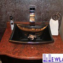 Đá Granite Đỏ Anh Quốc ốp lavabo MT-LVB0046