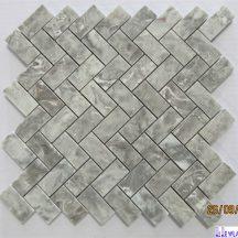 Đá dán chéo Mosaics màu ghi KT-357X342X10mm MT-MO0010