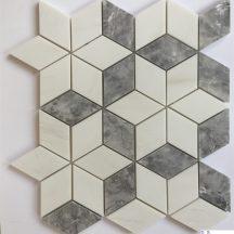 Đá dán Mosaics 3D màu ghi MT-MO004