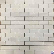 Đá dán Mosaics màu trắng muối KT-25X75mm MT-MO008