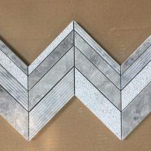 Đá dán Mosaics cheveron màu ghi-MT-MO006
