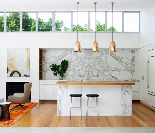 5 loại đá marble trắng đẹp miễn chê cho phòng bếp
