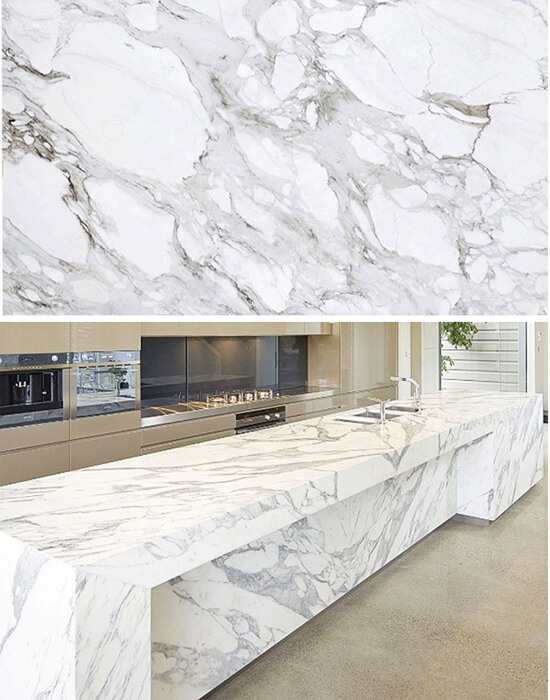 5 loại đá marble trắng đẹp miễn chê cho phòng bếp 1