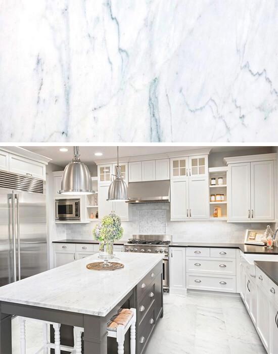 5 loại đá marble trắng đẹp miễn chê cho phòng bếp 4