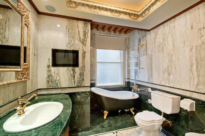 Đá marble xanh điểm nhấn độc lạ cho căn nhà