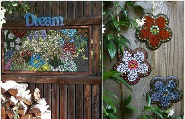 Thiết kế tiểu cảnh sân vườn theo phong cách mosaic